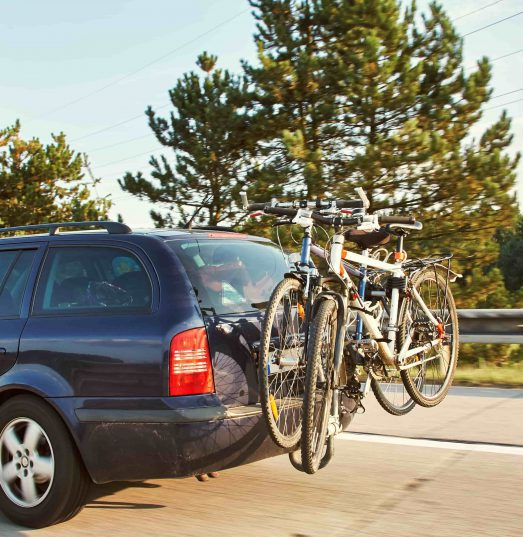 Does car or home insurance cover transporting bikes?